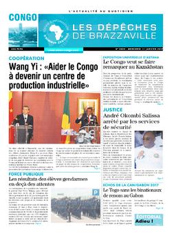 Les Dépêches de Brazzaville : Édition brazzaville du 11 janvier 2017