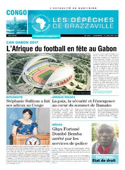 Les Dépêches de Brazzaville : Édition brazzaville du 13 janvier 2017