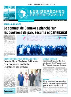 Les Dépêches de Brazzaville : Édition brazzaville du 16 janvier 2017