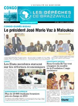 Les Dépêches de Brazzaville : Édition brazzaville du 17 janvier 2017