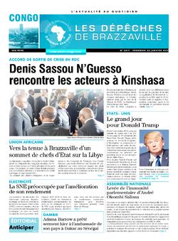 Les Dépêches de Brazzaville : Édition brazzaville du 20 janvier 2017