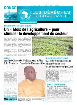 Les Dépêches de Brazzaville : Édition brazzaville du 24 janvier 2017