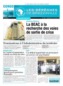 Les Dépêches de Brazzaville : Édition brazzaville du 25 janvier 2017