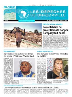 Les Dépêches de Brazzaville : Édition kinshasa du 25 janvier 2017