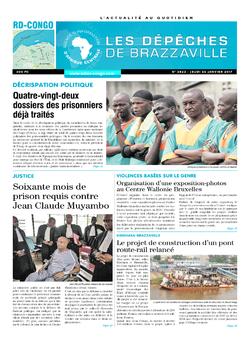Les Dépêches de Brazzaville : Édition kinshasa du 26 janvier 2017