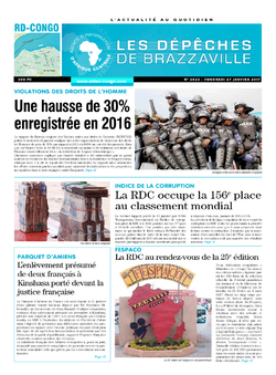 Les Dépêches de Brazzaville : Édition kinshasa du 27 janvier 2017