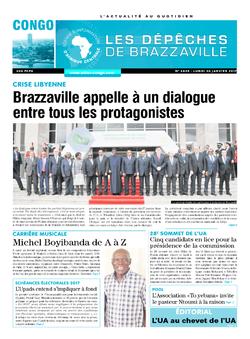 Les Dépêches de Brazzaville : Édition brazzaville du 30 janvier 2017