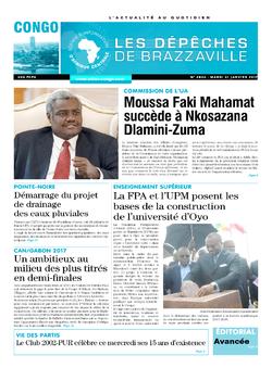 Les Dépêches de Brazzaville : Édition brazzaville du 31 janvier 2017