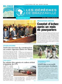 Les Dépêches de Brazzaville : Édition kinshasa du 31 janvier 2017