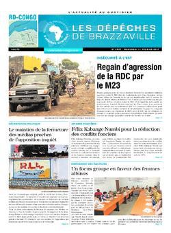 Les Dépêches de Brazzaville : Édition kinshasa du 01 février 2017