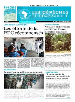 Les Dépêches de Brazzaville : Édition kinshasa du 02 février 2017