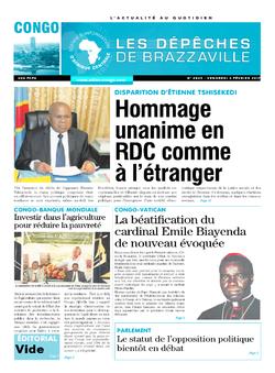 Les Dépêches de Brazzaville : Édition brazzaville du 03 février 2017