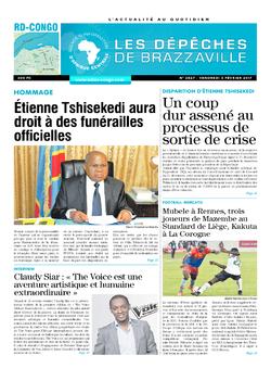 Les Dépêches de Brazzaville : Édition kinshasa du 03 février 2017