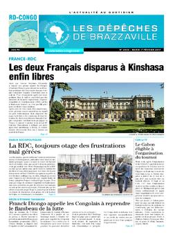 Les Dépêches de Brazzaville : Édition kinshasa du 07 février 2017