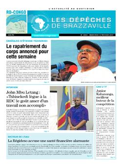Les Dépêches de Brazzaville : Édition kinshasa du 08 février 2017