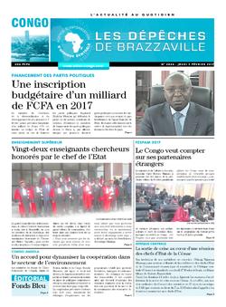 Les Dépêches de Brazzaville : Édition brazzaville du 09 février 2017