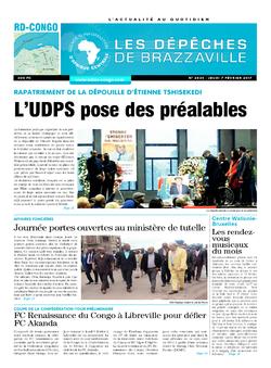 Les Dépêches de Brazzaville : Édition kinshasa du 09 février 2017