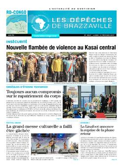 Les Dépêches de Brazzaville : Édition kinshasa du 13 février 2017