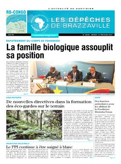Les Dépêches de Brazzaville : Édition kinshasa du 14 février 2017