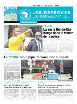 Les Dépêches de Brazzaville : Édition kinshasa du 15 février 2017
