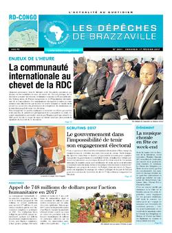 Les Dépêches de Brazzaville : Édition kinshasa du 17 février 2017