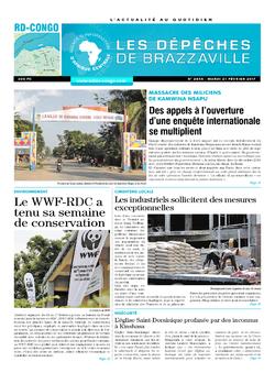 Les Dépêches de Brazzaville : Édition kinshasa du 21 février 2017