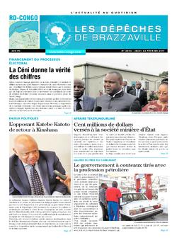 Les Dépêches de Brazzaville : Édition kinshasa du 23 février 2017