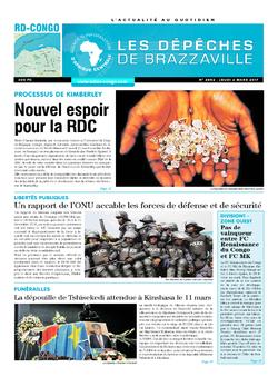 Les Dépêches de Brazzaville : Édition kinshasa du 02 mars 2017
