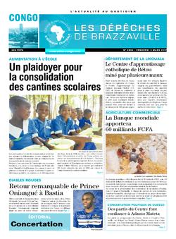 Les Dépêches de Brazzaville : Édition brazzaville du 03 mars 2017