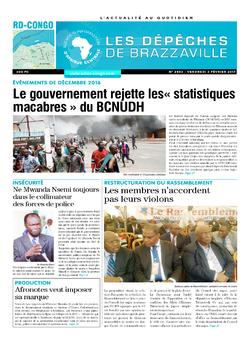 Les Dépêches de Brazzaville : Édition kinshasa du 03 mars 2017