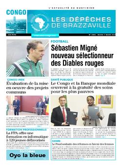 Les Dépêches de Brazzaville : Édition brazzaville du 07 mars 2017