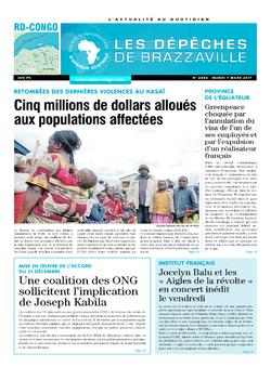 Les Dépêches de Brazzaville : Édition kinshasa du 07 mars 2017