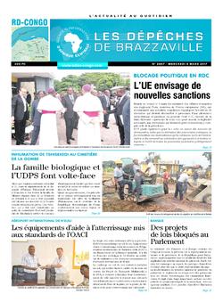 Les Dépêches de Brazzaville : Édition kinshasa du 08 mars 2017