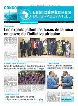 Les Dépêches de Brazzaville : Édition brazzaville du 09 mars 2017