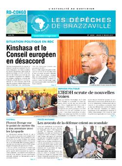Les Dépêches de Brazzaville : Édition kinshasa du 09 mars 2017