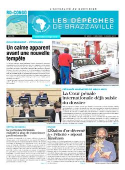 Les Dépêches de Brazzaville : Édition kinshasa du 10 mars 2017