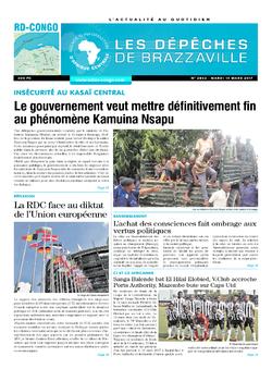 Les Dépêches de Brazzaville : Édition kinshasa du 14 mars 2017