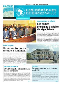 Les Dépêches de Brazzaville : Édition kinshasa du 16 mars 2017