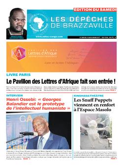 Les Dépêches de Brazzaville : Édition du 6e jour du 18 mars 2017