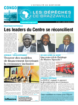 Les Dépêches de Brazzaville : Édition brazzaville du 20 mars 2017