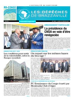 Les Dépêches de Brazzaville : Édition kinshasa du 20 mars 2017