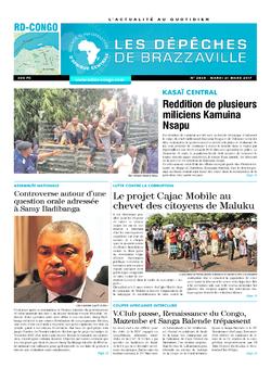 Les Dépêches de Brazzaville : Édition kinshasa du 21 mars 2017
