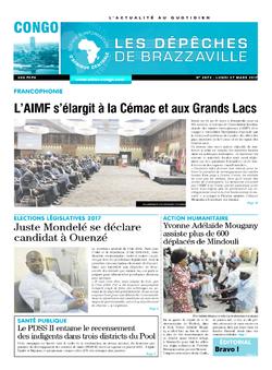 Les Dépêches de Brazzaville : Édition brazzaville du 27 mars 2017