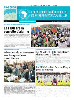 Les Dépêches de Brazzaville : Édition kinshasa du 28 mars 2017