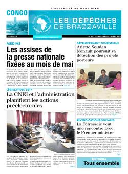 Les Dépêches de Brazzaville : Édition brazzaville du 29 mars 2017