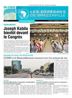 Les Dépêches de Brazzaville : Édition kinshasa du 31 mars 2017
