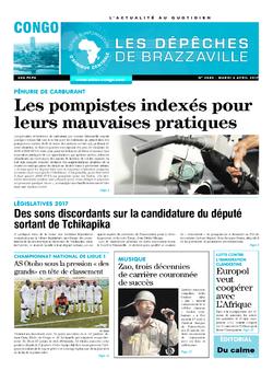 Les Dépêches de Brazzaville : Édition brazzaville du 04 avril 2017