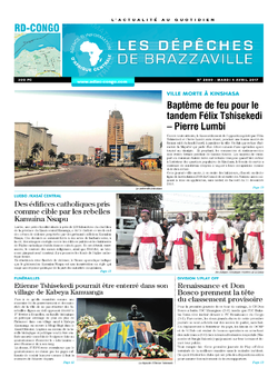 Les Dépêches de Brazzaville : Édition kinshasa du 04 avril 2017