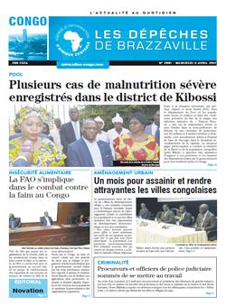 Les Dépêches de Brazzaville : Édition brazzaville du 05 avril 2017