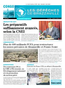 Les Dépêches de Brazzaville : Édition brazzaville du 06 avril 2017